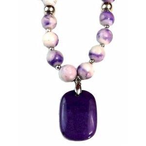 Silver Semi-Precious Blue Gemstone Jewelry set